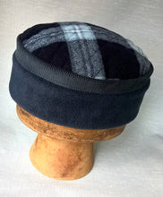 Load image into Gallery viewer, Lumberjack Fleece Kufi Hat, Mens blue Winter Pillbox Cap