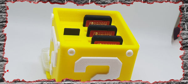 Mario Question Mark Block Switch Game and SD Card case - 3D Printed