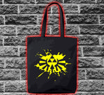 Zelda Link Hylian Shield Triforce Splat Bag