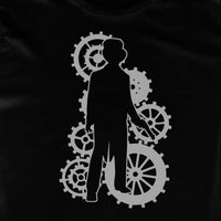 Steampunk Male METALLIC Silver Character T-shirt