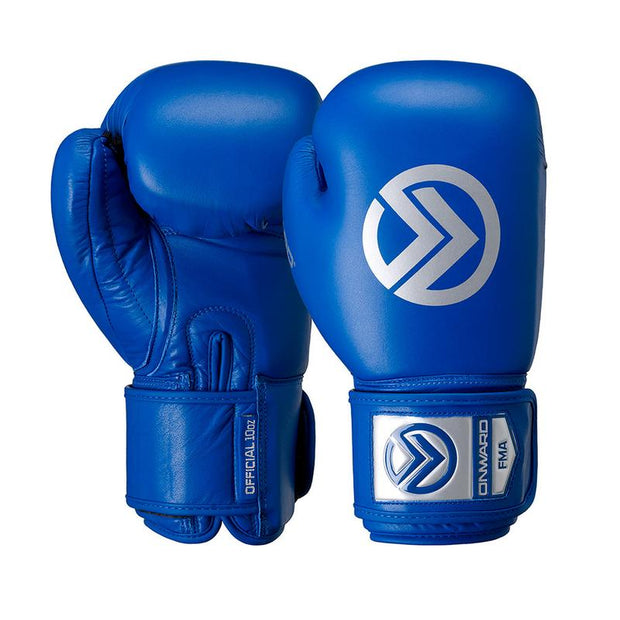 Competition Fight Glove-Boxing Gloves-Onward-BLUE-10OZ-Onward
