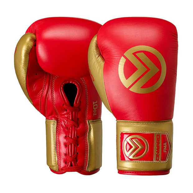 Ignis Fight Glove-Boxing Gloves-RED/GOLD-8OZ-2AA003-648-8OZ-Onward
