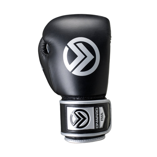 Sabre Boxing Glove-Boxing Gloves-Onward-BLACK/SILVER-8OZ-Onward