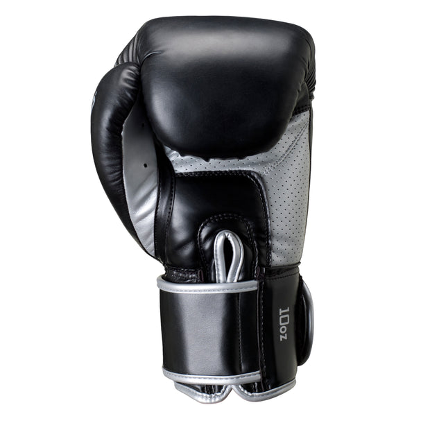 Sabre Boxing Glove-Boxing Gloves-BLACK/SILVER-8OZ-2AA006-066-8OZ-Onward