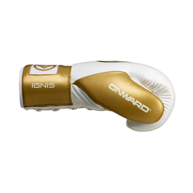 Ignis Fight Glove-Boxing Gloves-Onward-WHITE/GOLD-8OZ-Onward