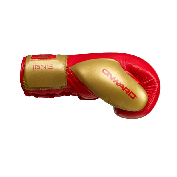 Ignis Fight Glove-Boxing Gloves-WHITE/GOLD-8OZ-2AA003-192-8OZ-Onward