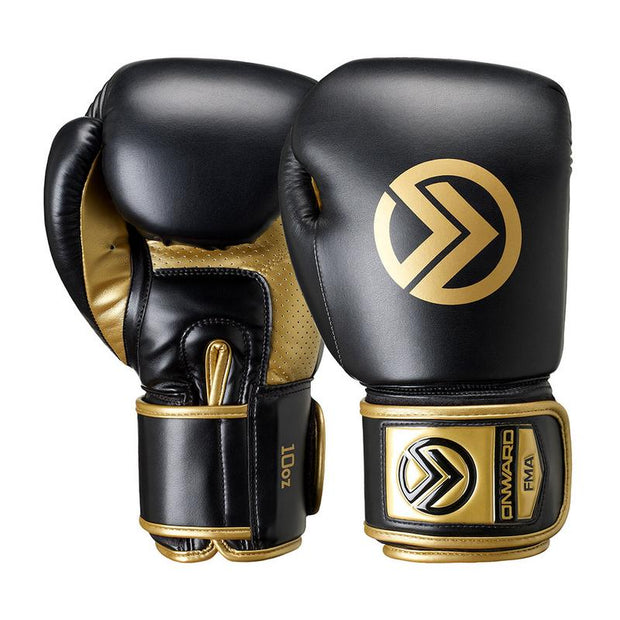 Sabre Boxing Glove-Boxing Gloves-BLACK/GOLD-8OZ-2AA006-095-8OZ-Onward