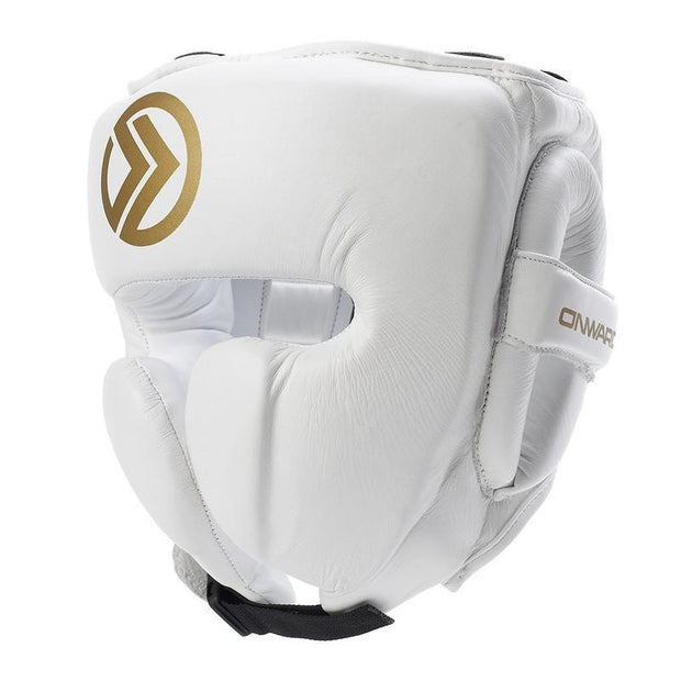 Vero Pro Head Guard-Head Guards-WHITE/GOLD-S-2AB001-192-S-Onward