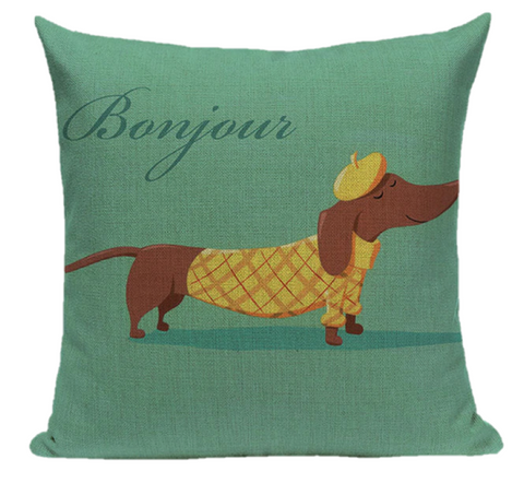 Pancho - Dachshund Cushion Cover