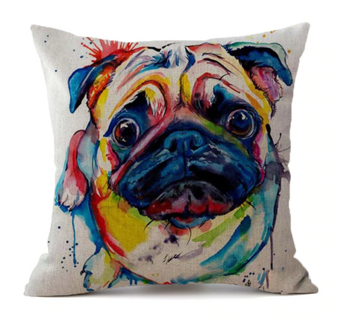 Lexi - Pug Cushion Cover