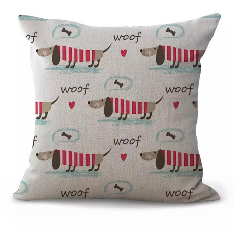 Robin - Dachshund Cushion Cover