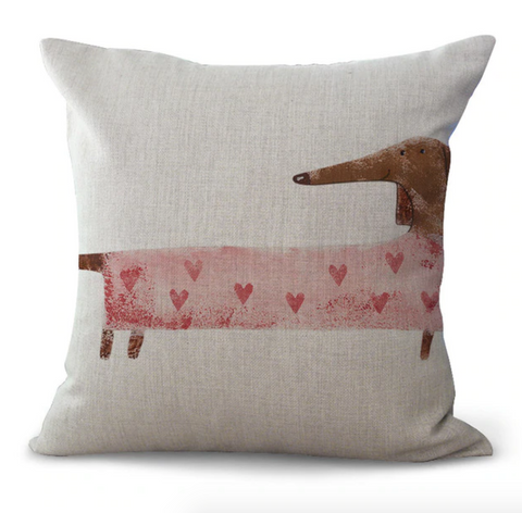 Poppy - Dachshund Cushion Cover