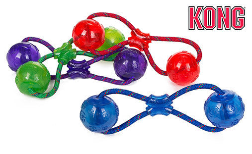 KONG Squeezz Double Ball with Rope