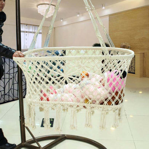 Newborn Baby  Suspension Rope Cradle Basket Weave Design - Bump Closet Maternity Clothes