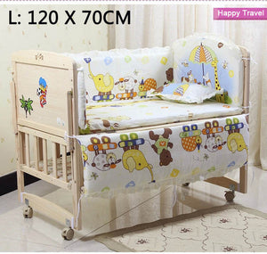 Bump Closet 5PCS/SET Baby bedding sets 100% cotton includes pillow bumpers mattress - Bump Closet Maternity Clothes