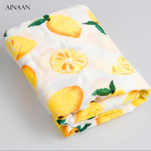 Bump Closet Fox Baby Blanket Muslin Swaddle Wraps Cotton Bamboo - Bump Closet Maternity Clothes