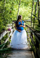 Bump Closet Full-Length Romantic Long Tutu Ballroom Photo Prop Dress-up Photography - Bump Closet Maternity Clothes