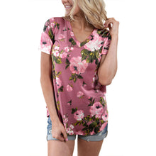 Bump Closet Maternity Fashion  Short Sleeve Floral Printed Shirt T-shirt Blouse - Bump Closet Maternity Clothes