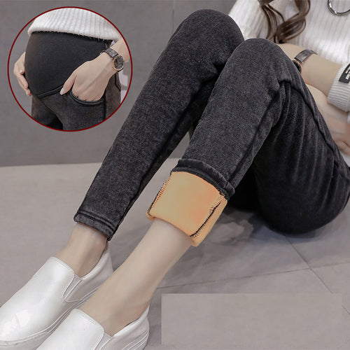 Bump Closet Maternity Fashion Jeans winter Skinny Pants - Bump Closet Maternity Clothes
