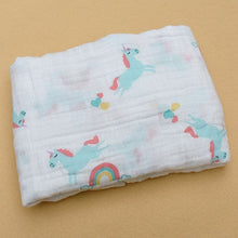 Bump Closet 100%Muslin Cotton Blankets Dinosaur Unicorn Pattern - Bump Closet Maternity Clothes