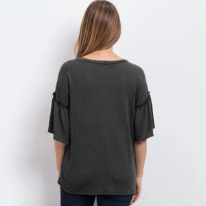 Bump Closet Tops Flare Sleeve Nursing Blouse - Bump Closet Maternity Clothes