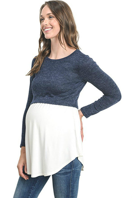 Bump Closet Maternity Long sleeve casual - Bump Closet Maternity Clothes
