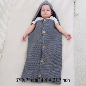 Bump Closet Baby Swaddle Wool Crochet Knitted Sleeping Bag - Bump Closet Maternity Clothes