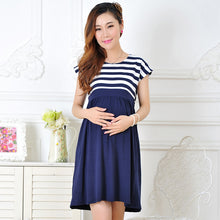 Maternity dress casual cotton stripe - Bump Closet Maternity Clothes