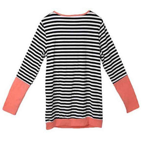 Bump Closet Casual Patchwork Striped Maternity + Nursing blouse