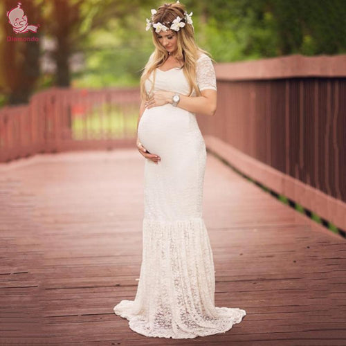 White Dress Maternity Photography - Bump Closet Maternity Clothes