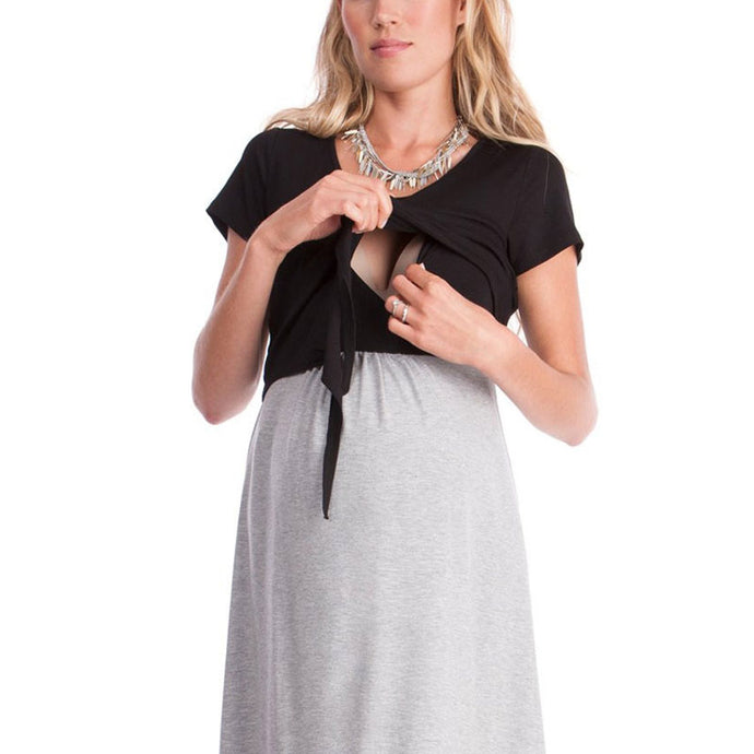 Dress Pregnancy Clothing Nursing Dress New - Bump Closet Maternity Clothes