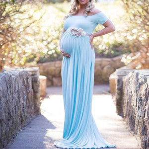 Bump Closet Long Off-shoulder Dress for Maternity Photography