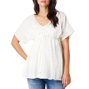 Bump Closet Maternity Short Sleeve V Neck Solid - Bump Closet Maternity Clothes