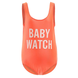 Mother Ship Cute Maternity Swimwear One-Piece - Bump Closet Maternity Clothes