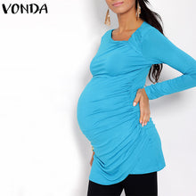 Bump Closet Maternity Blouses Shirts Casual Square Collar Long Sleeve - Bump Closet Maternity Clothes