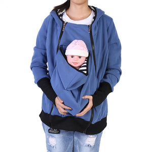 Bump Closet Multifunctional Infant Baby Carrier Maternity Zip Jacket Coat Hoodie - Bump Closet Maternity Clothes