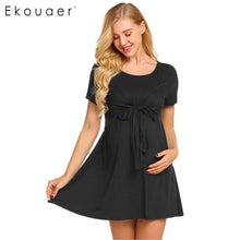 Ekouaer Women Nightdress Nightwear Maternity Nursing Breastfeeding Nightgows Pregnancy Ultra Soft Sleepwear Loungewear Dress