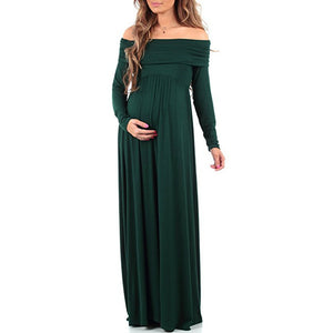 Bump Closet Solid full- length Maternity Photography dress