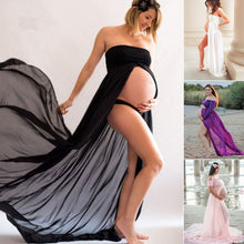 Bump Closet Wispy Chiffon Solid Maternity Photography dress