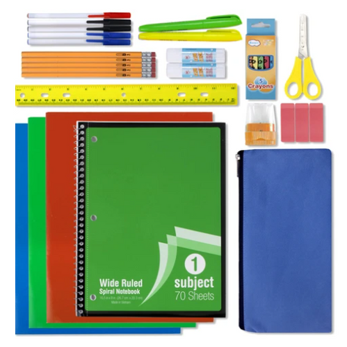 30 Piece School Supply Kit ($8.50/Kit-12/Case)