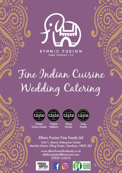 Wedding catering sample menus