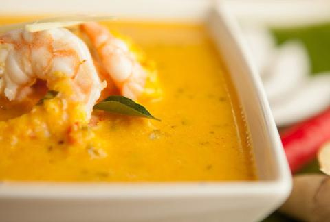 Spicy Prawn Curry (Kerala) (Fresh king prawns cooked south indian style) Hot
