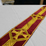 Red and Gold Cross Design Ribbon