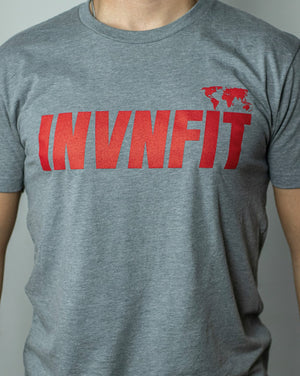 INVNFIT Sky Gray Athletic Performance Tee
