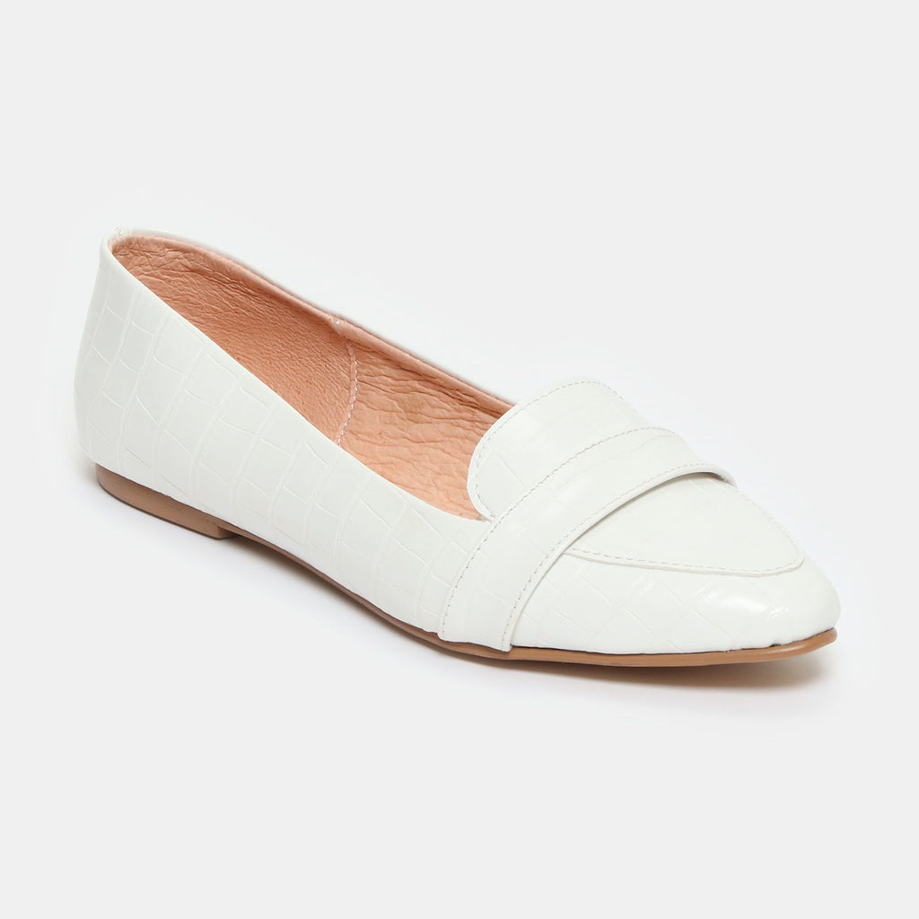 Slippers - Leonor - drillo blanco