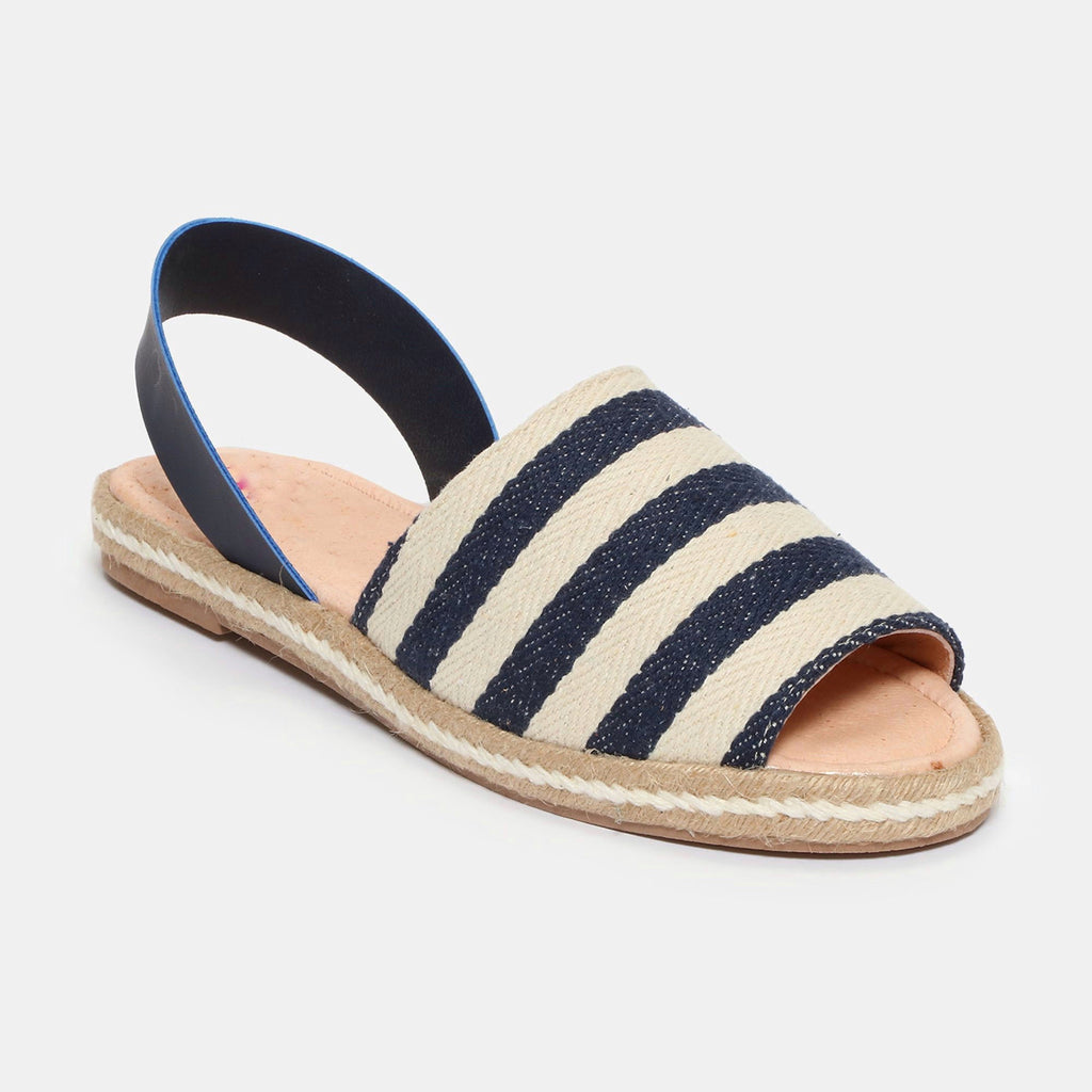 Sandalias - Betty - rayas marino