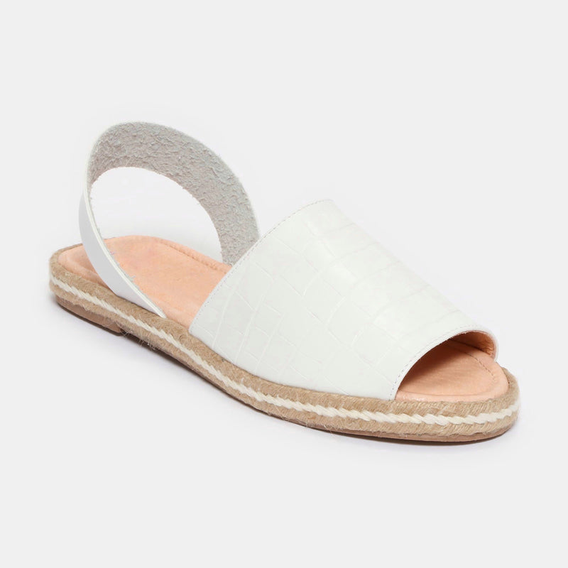 Sandalias Betty - drillo blanco