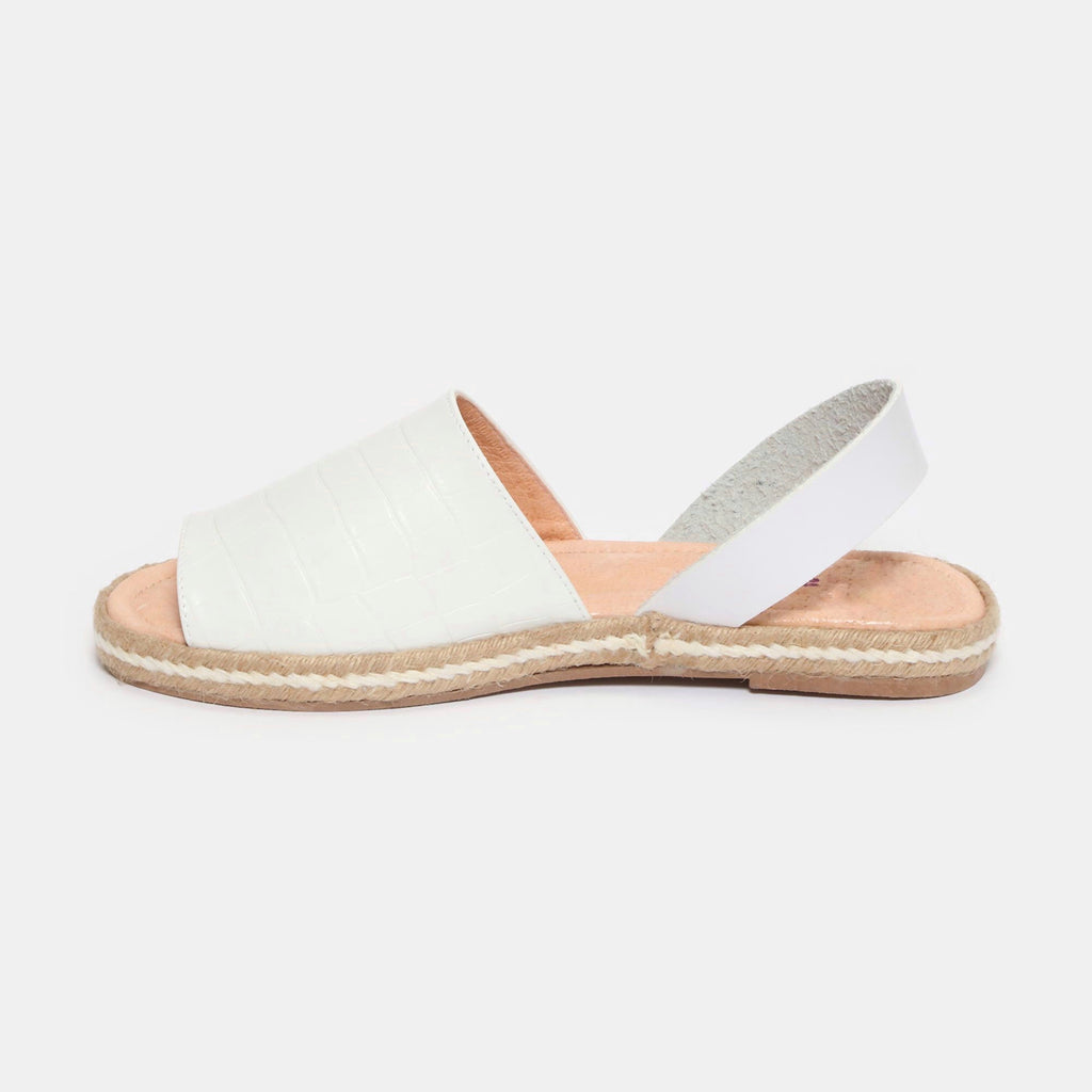 Sandalias - Betty - drillo blanco