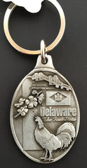 Delaware Pewter Keychain