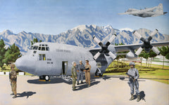C-130 asgn to 166 AW Del Air National Guard Giclee Print